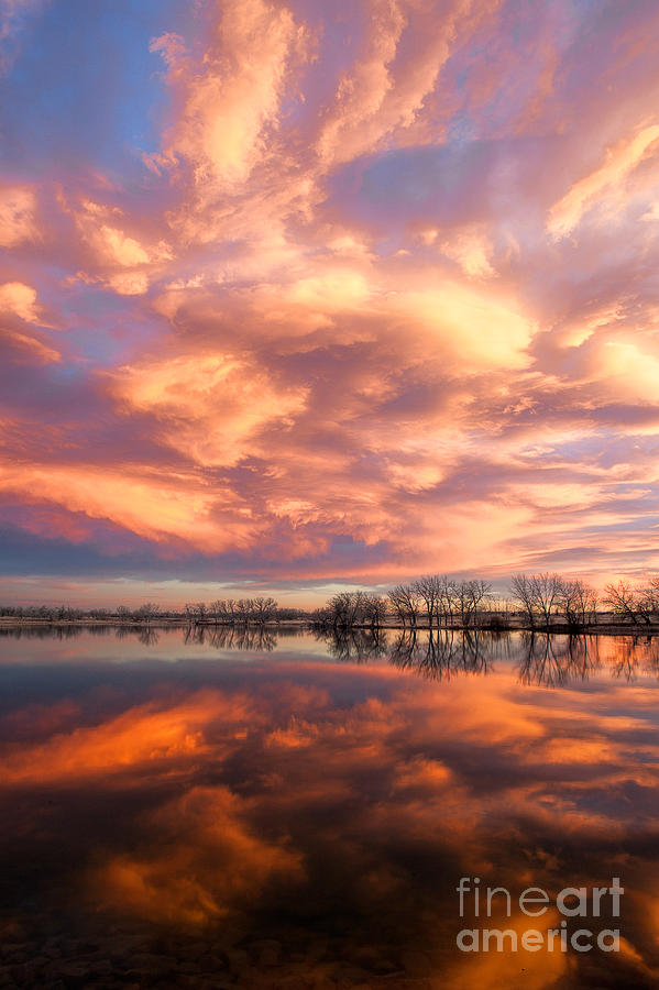 Lake Sunset Photograph - Slow Burn by Jim Garrison