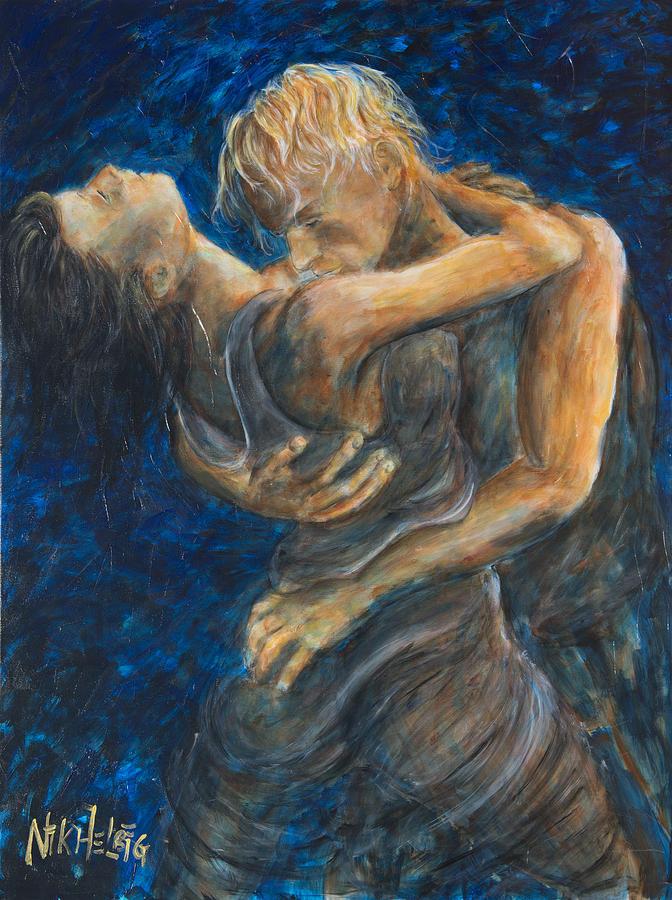 Slow Dancing Painting - Slow Dancing IIi by Nik Helbig