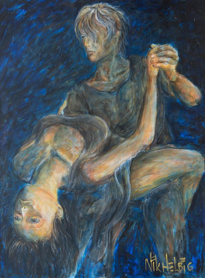 Slow Dancing Painting - Slow Dancing V by Nik Helbig