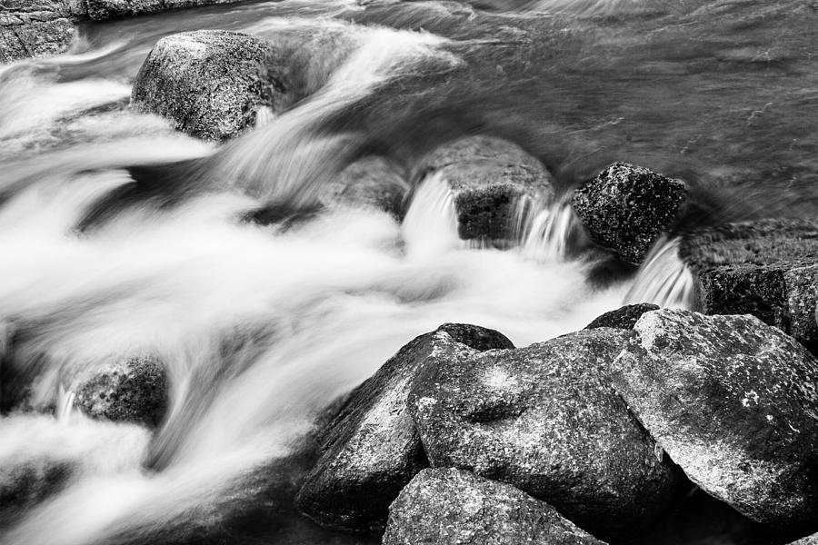Outdoors Photograph - Slow Flow Black And White by James BO  Insogna