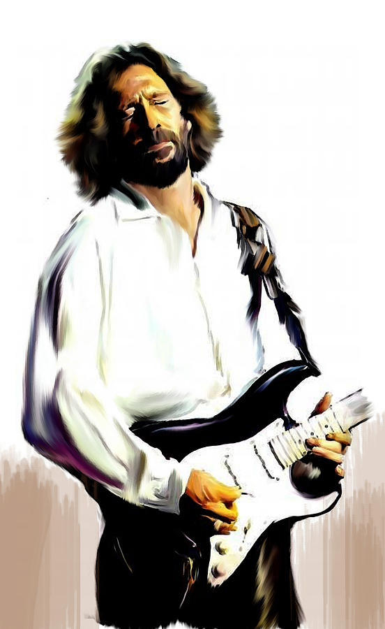 Eric Clapton Painting - Slow Hand  Eric Clapton by Iconic Images Art Gallery David Pucciarelli