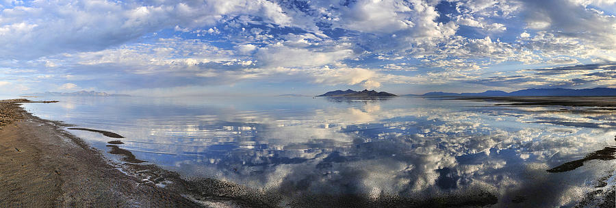 Amazing Photograph - Slow ripples over the shallow waters of the Great Salt Lake by Sebastien Coursol