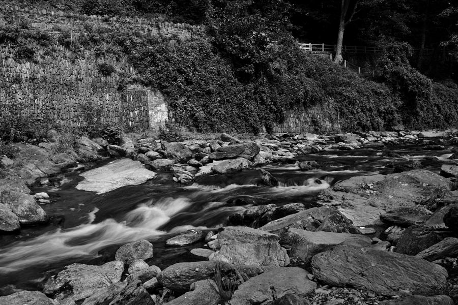 East Lyn River Photograph - Slow River by Lesley Rigg