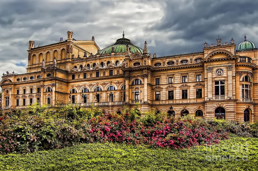 Slowacki Theatre In Cracow Old Town District Photograph