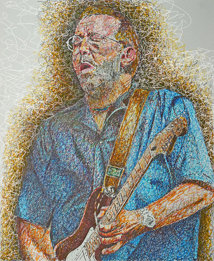 Eric Clapton Live Drawing - Slowhand by Breyhs Swan