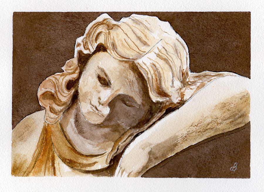 Watercolor Painting - Slumber by Brenda Owen