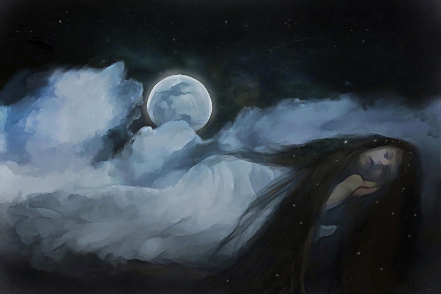 Moon Digital Art - Slumberland by Hazel Billingsley