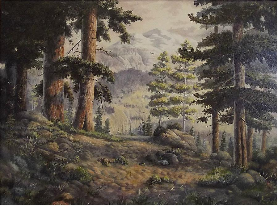 Trees Painting - Slumgullian Pass by Wanda Dansereau