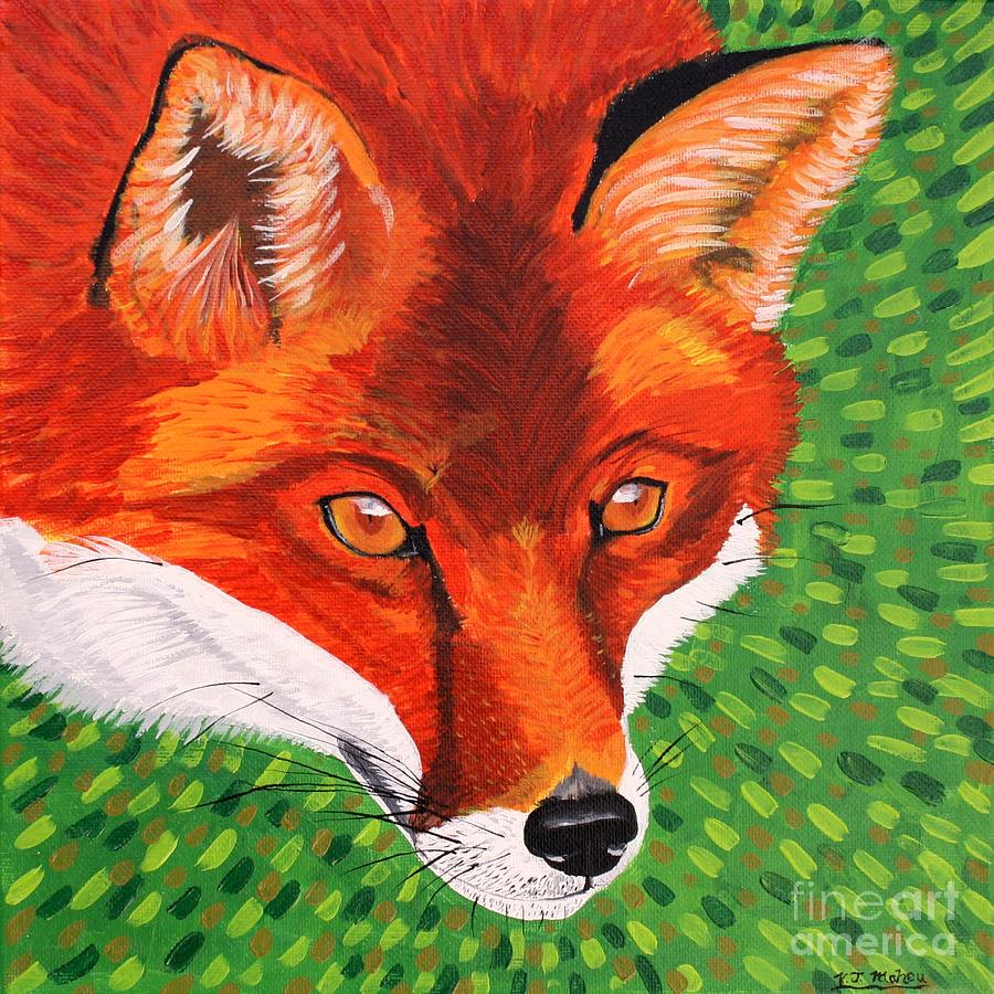 Fox Painting - Sly Mr. Fox by Vicki Maheu