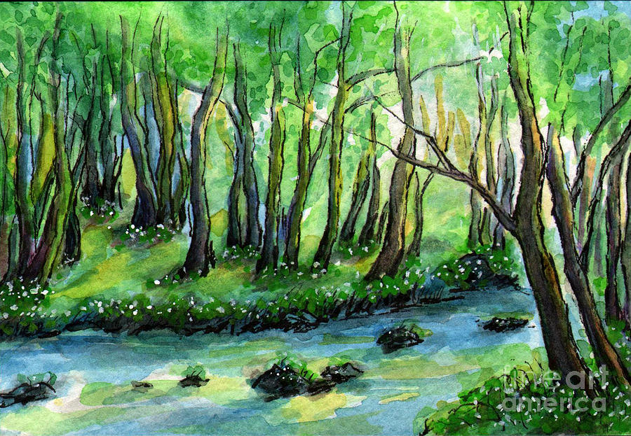 Sm008 Forest River 2 Painting By Kirohan Art