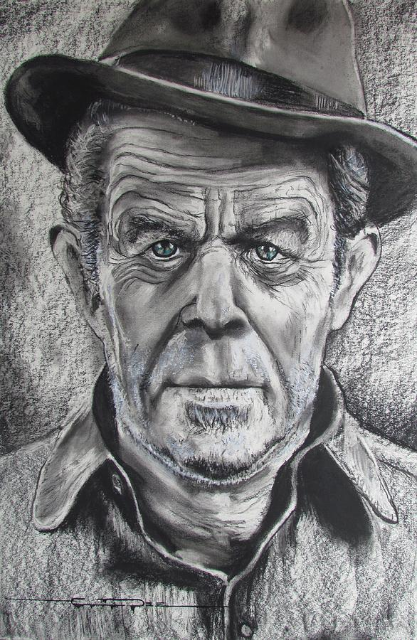 Tom Waits Drawing - Small Change for Tom Waits by Eric Dee