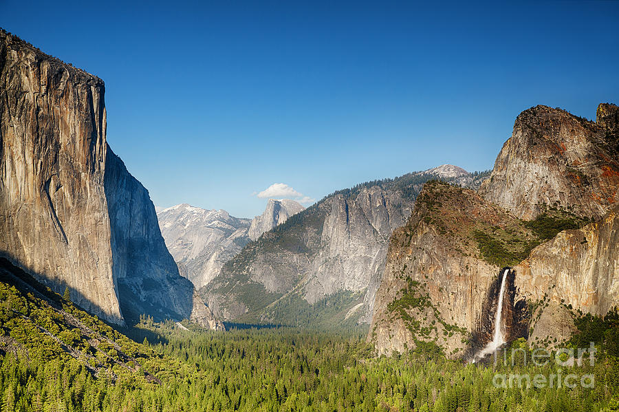 Park Photograph - Small Clouds Over The Half Dome by Jane Rix