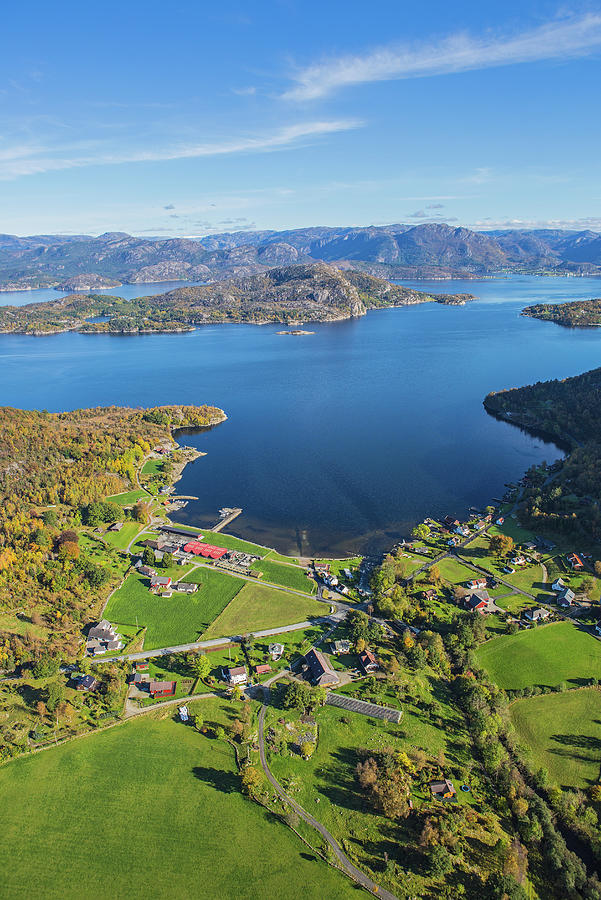 Small Community In The Fjords Photograph by Sindre Ellingsen