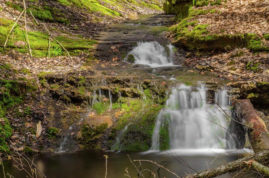 Parfrey's Glen Photograph - Small Falls At Parfreys Glen by Jonah  Anderson