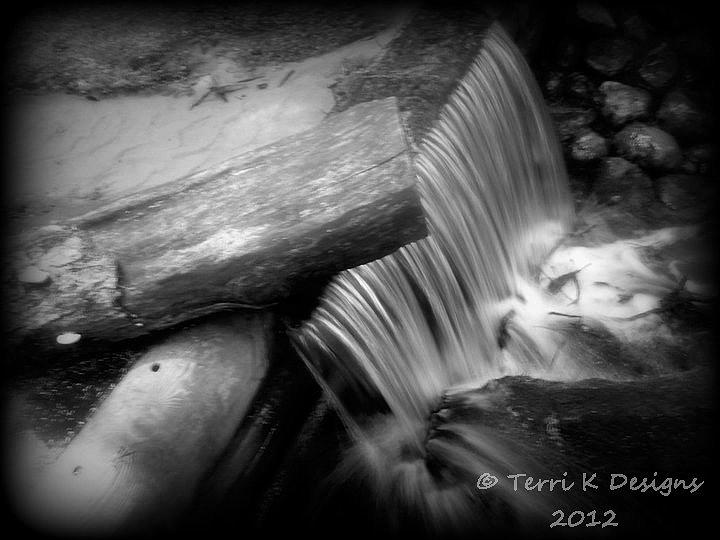 Spring Water Photograph - Small Falls by Terri K Designs
