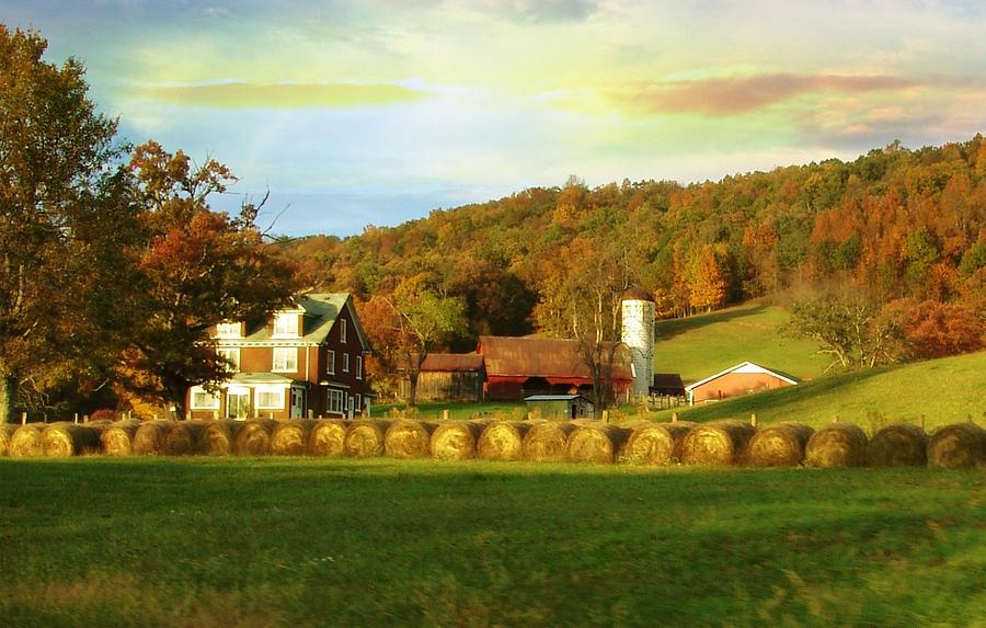 Fall Photograph - Small Farm by Lj Lambert