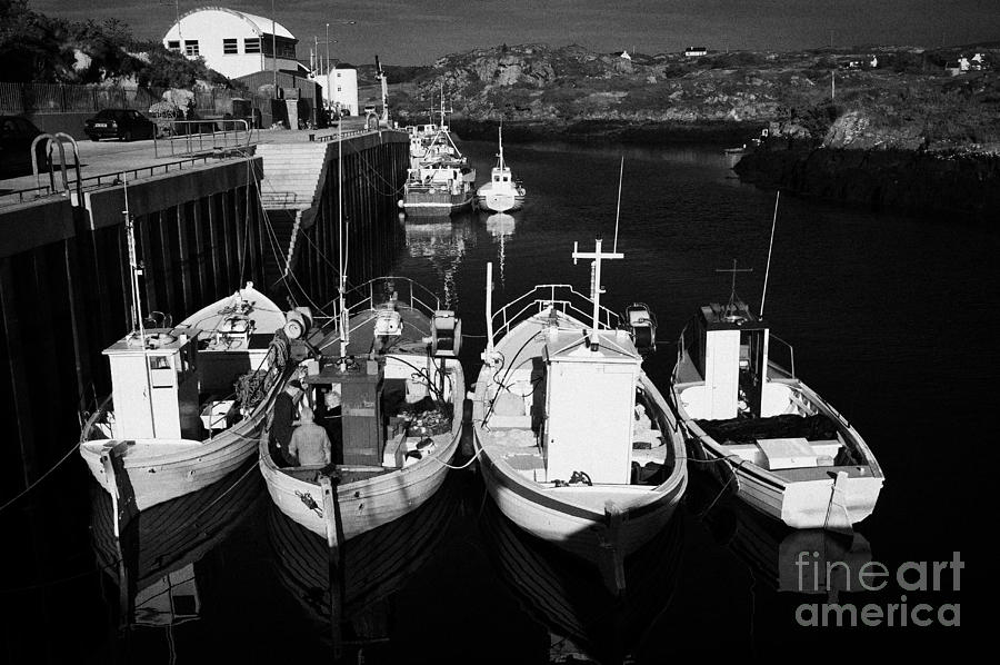 County Photograph - small fishing boats in bunbeg harbour county Donegal Republic of Ireland by Joe Fox