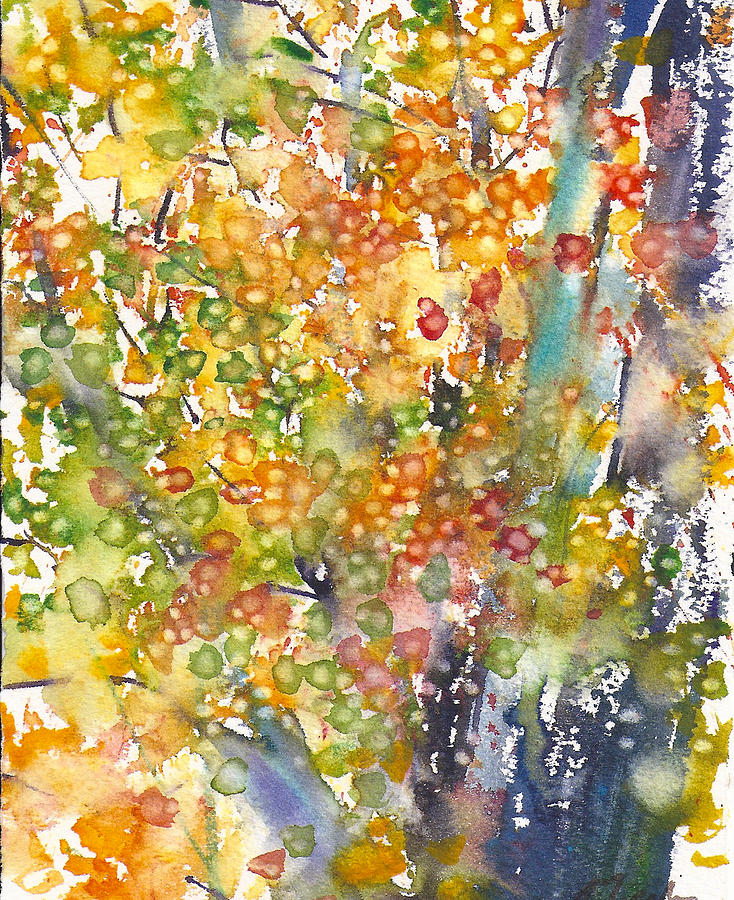 Fall Painting - small format No.23 New England Fall-scape 40x49 by Sumiyo Toribe