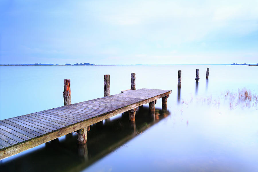 Small Jetty On A Silent Lake Photograph by Mf-guddyx