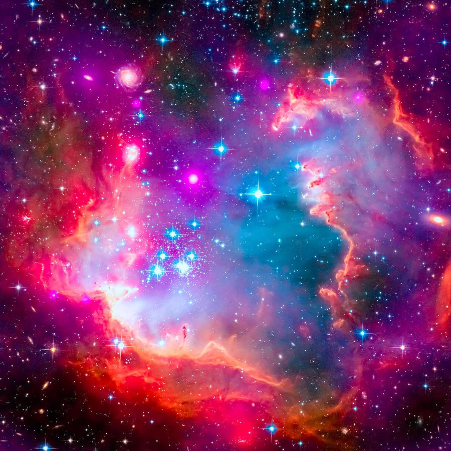 Galaxy Artwork Small Magellanic Cloud...