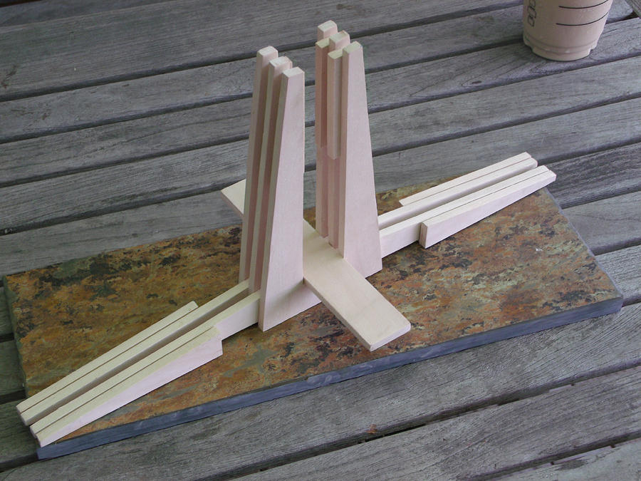 Wood Sculpture - Small Part Of A Larger Assembly by Mark Van Norman
