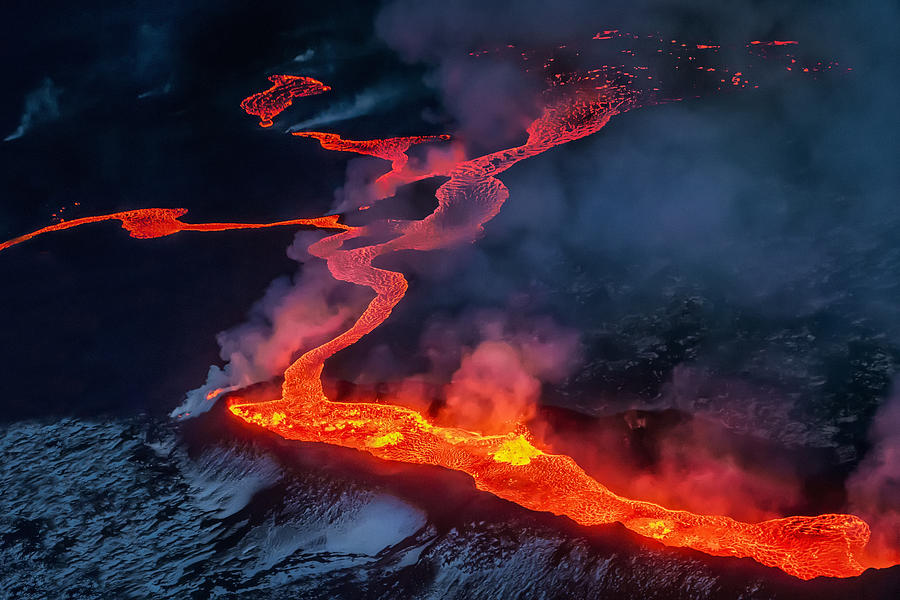 Small part of Lava flowing, Iceland Photograph by Arctic-Images