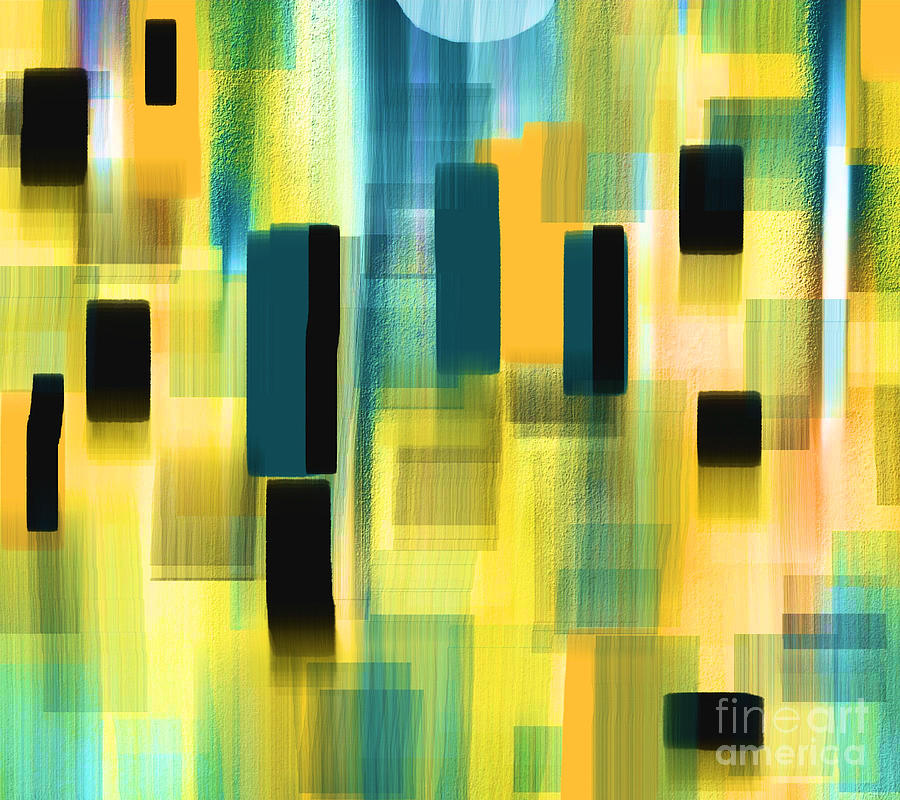 Abstract Painting - Small Places by Hilda Lechuga