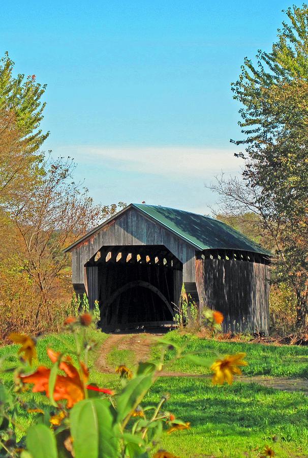 Covered Bridge Photograph - Small Private Country Bridge by Barbara McDevitt