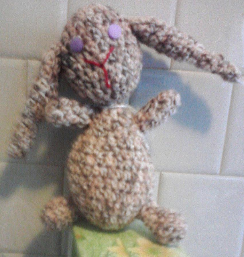 Rabbit Amigurumi Tapestry - Textile - Small Rabbit by Sarah Biondo