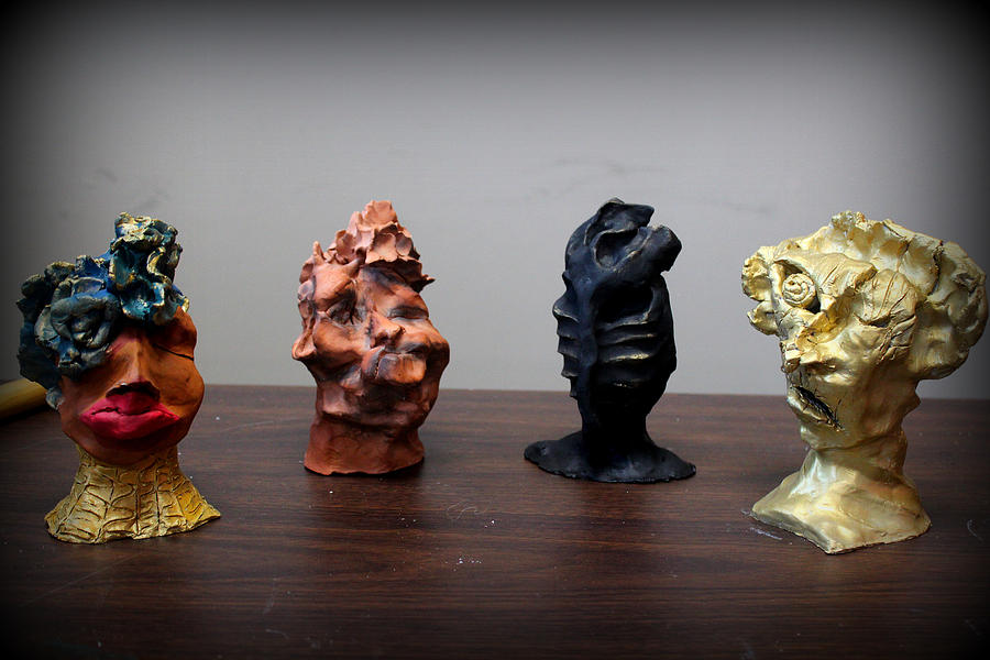 Ceramic  Ceramic Art - Small Sculptures  by Wynter Peguero