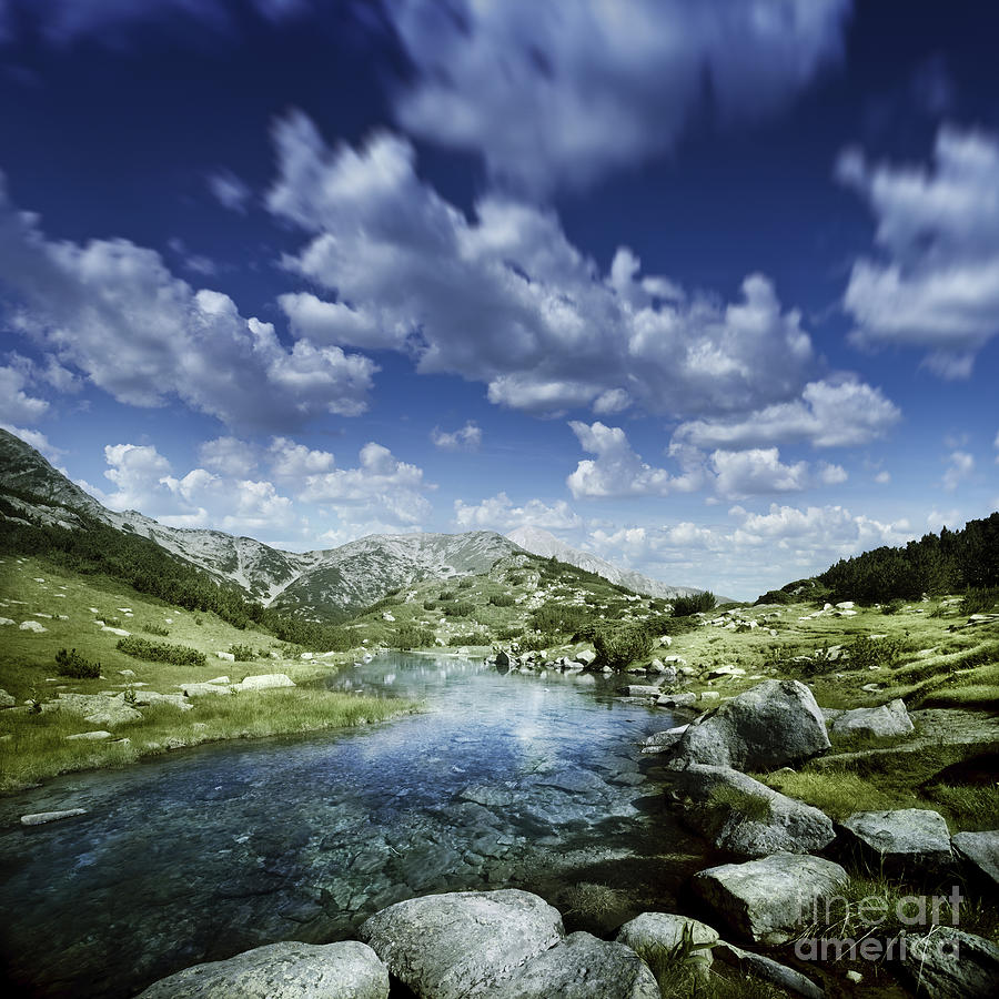 Bulgaria Photograph - Small Stream In The Mountains Of Pirin by Evgeny Kuklev