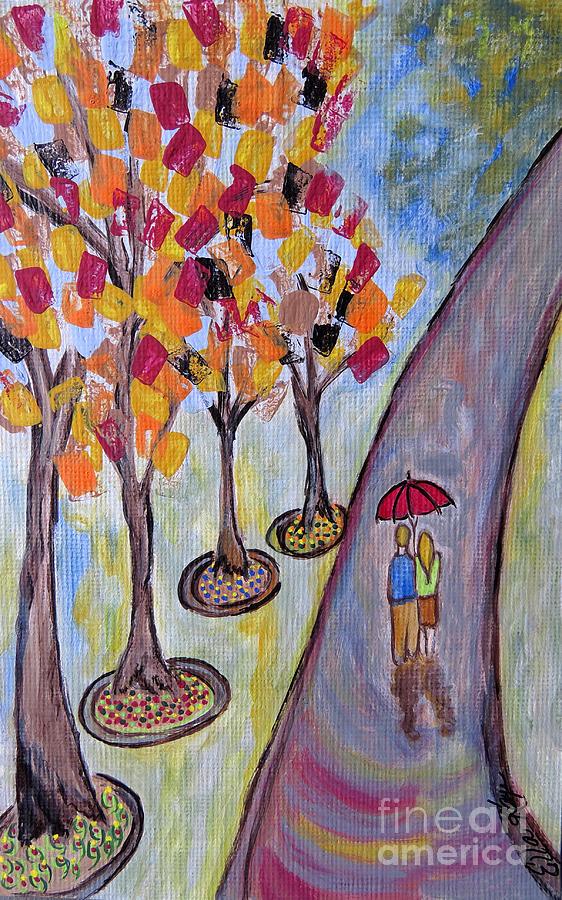Umbrella Painting - Small Talk by Ella Kaye Dickey