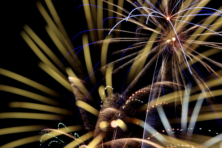 Salem Photograph - Small Town Fireworks by David Dufresne