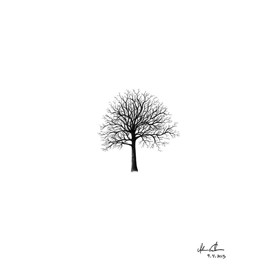 Small tree silhouette drawing by adam vereecke for Small art drawings