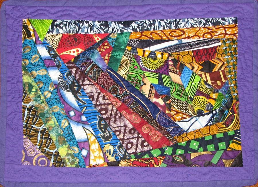 Abstract Tapestry - Textile - Small Wonder by Aisha Lumumba