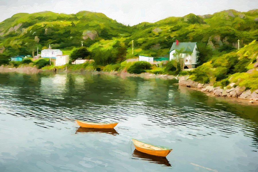 Canada Photograph - Small Yellow Boats by Boss Photographic