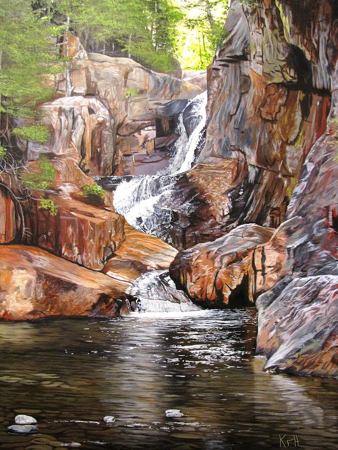 Waterfall Painting - Smalls Falls Maine by Kevin F Heuman
