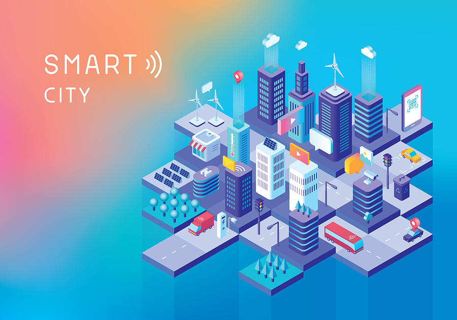 Smart City Concept Drawing by Miakievy