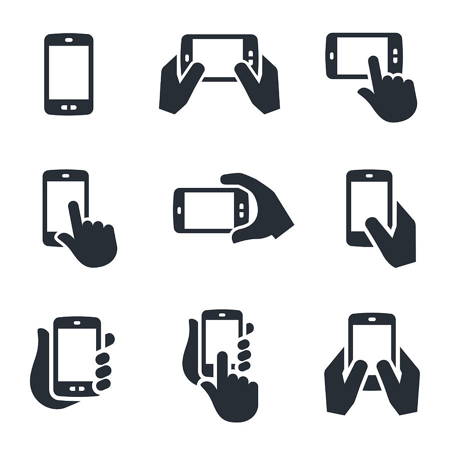 Smartphone Icons Drawing by Appleuzr