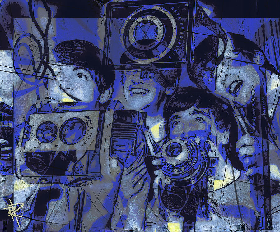 The Beatles Mixed Media - Smile For The Camera by Russell Pierce