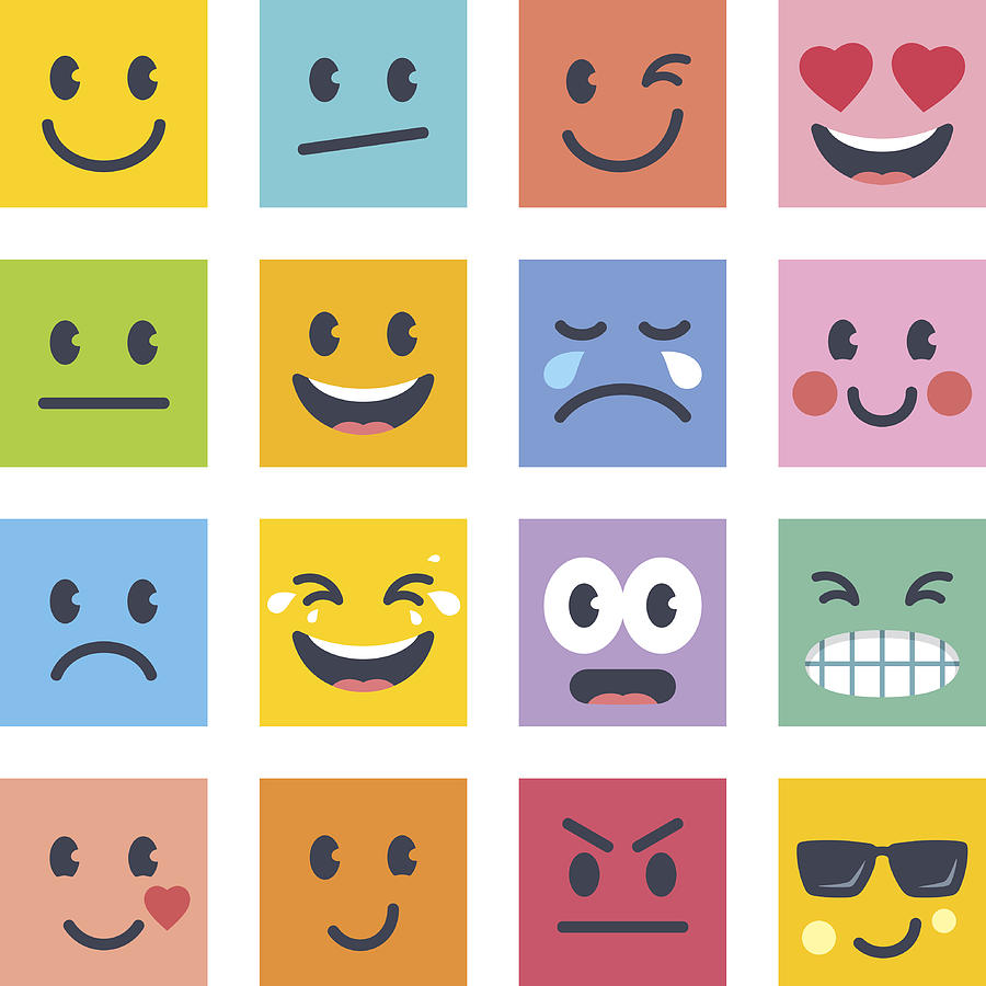 Smile Icons Drawing by GoodGnom