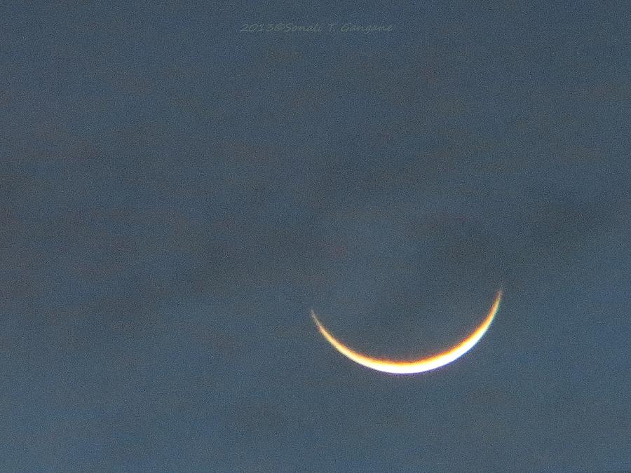 Crescent Moon Photograph - Smile In Sky by Sonali Gangane