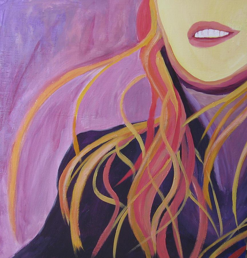 Portrait Painting - Smile by Ingrid Torjesen