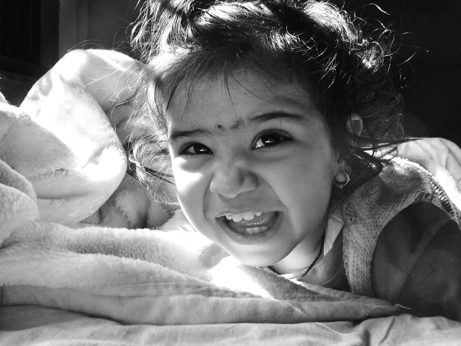 Children Photograph - Smile by Makarand Purohit
