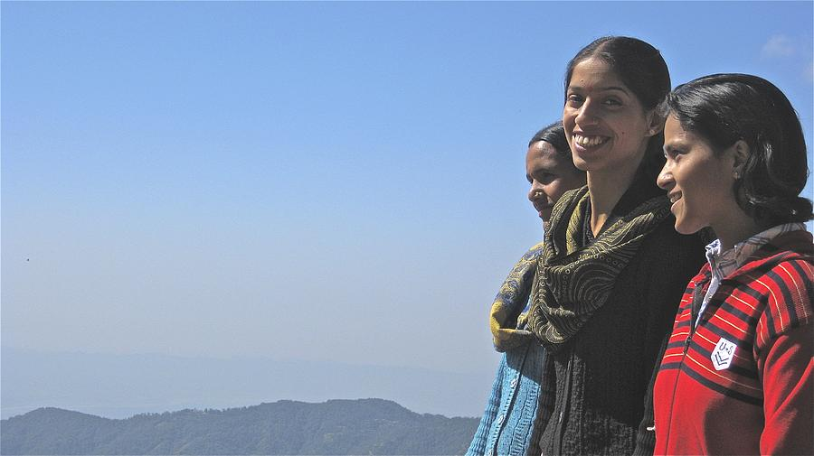 India. Portrait. Smile. Blue. Photograph - Smile by Russell Smidt