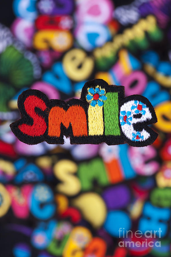 Embroidery Photograph - Smile by Tim Gainey