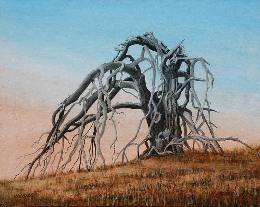 Landscape Painting - Smiley Canyon Tree by J W Kelly