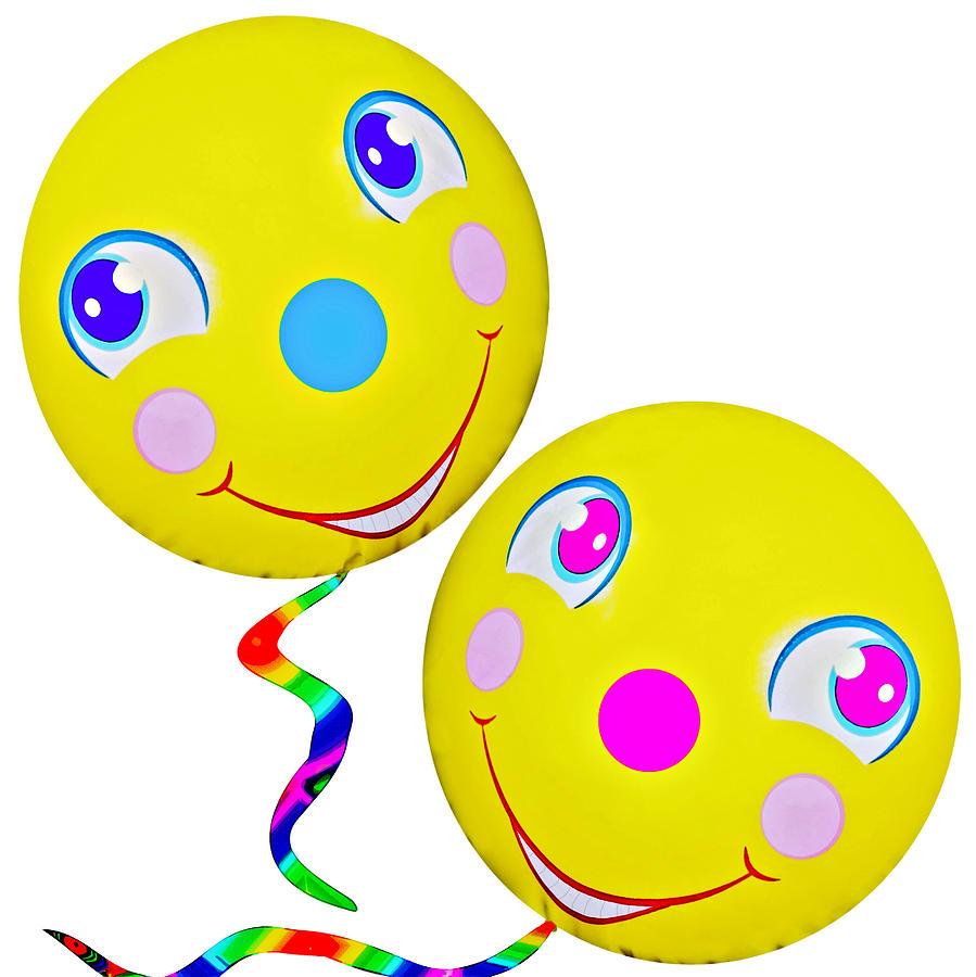 Abstract Photograph - Smiley Face Balloons by Susan Leggett