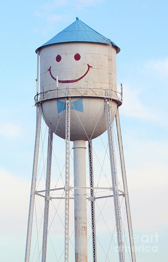 Smiley The Water Tower Steve Augustin on Painted Metal Wall Art