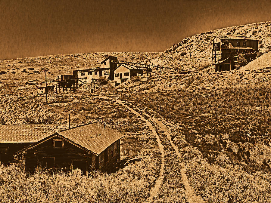 Aged Photograph - Smith Mine by Leland D Howard